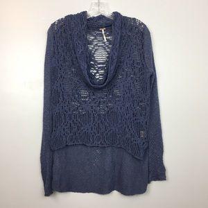 Purple Crochet Free People Sweater | S